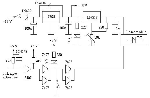 schematic a simple ttl modulated diode laser